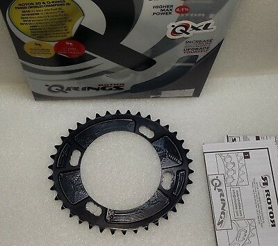 Rotor QXL Road Oval Chainring Shimano 4-Arm BCD 110mm 38T Inner