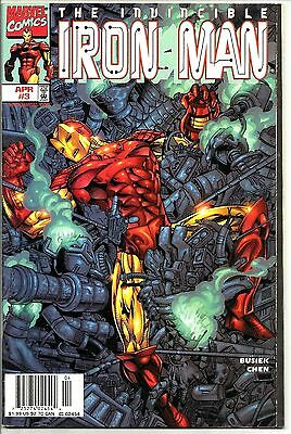 The Invincible Iron Man, Marvel Comics, Volume 3, #3, Avril 1998 Parfait État