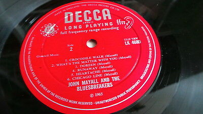 SIGNED/SIGNIERT JOHN MAYALL - Plays John Mayall (UK 1965 red unboxed Decca)