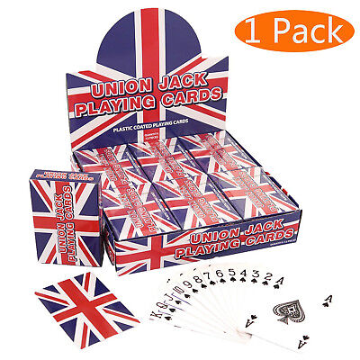 PLAYING CARDS Poker Gaming Snap Union Jack Deck Kings Queens Ace Plastic Coated