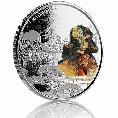 2018 1 oz Samurai Archives - Kiyomori .999 Fine Silver Coin Proof Color #A470