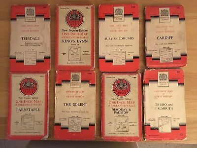 Vintage- National Grid Ordnance Survey One Inch Maps-Cloth- QUICK SELL PRICE