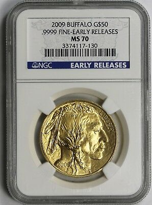 2009 Early Releases American Buffalo Gold $50 One-Ounce MS 70 NGC .9999 Fine
