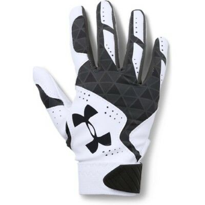 Under Armour Radar Womens Batting Gloves 1299550 - WH/BK - L