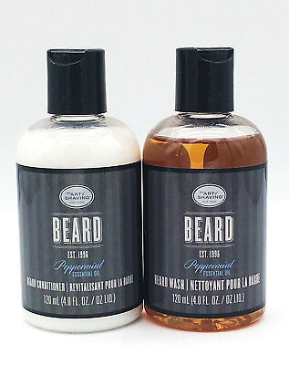 The Art of Shaving Peppermint Beard Wash and Conditioner Unboxed (4 Oz.)