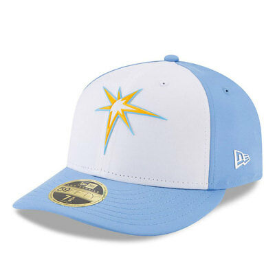 Tampa Bay Rays New Era Low Profile MLB Prolight Fitted Cap Size - 7 3/8