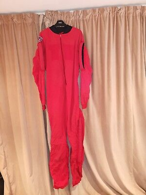 Skydiving RW  Tony Suit. Large size. Red with arm and leg grips, good condition.