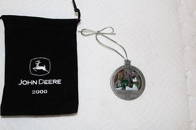 New John Deere Christmas Ornament With Black Pouch 5th In Series 2000