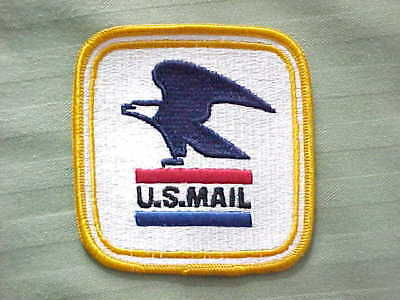 Vintage U.S. Mail Postal Service Eagle Logo Embroidered Sew On Patch  Never Used