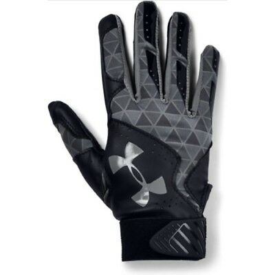 Under Armour Radar Womens Batting Gloves 1299550 - BK/GPH/GPH - L