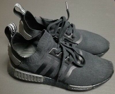 1588bf63e6f5 Men s Adidas NMD R1 PK Boost Primeknit Japan Triple Black Size 10.5 BZ0220
