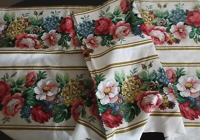 Length Of Gorgeous Vintage Sanderson Screen Print~Floral~