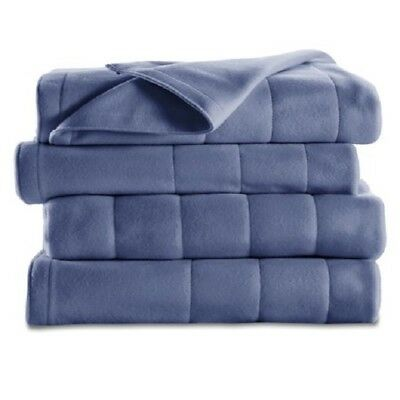 Sunbeam Channeled Microplush Electric Heated Blanket King Queen Full Twin Colors