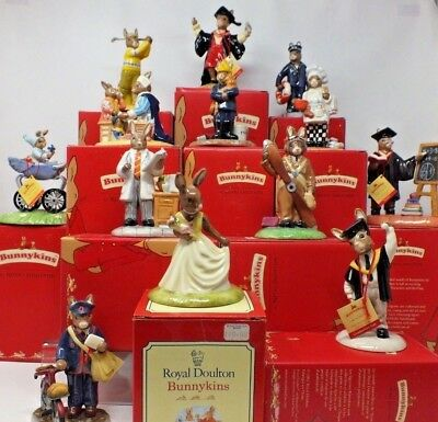 Retired Royal Doulton BUNNYKINS Selection of Various Figurines