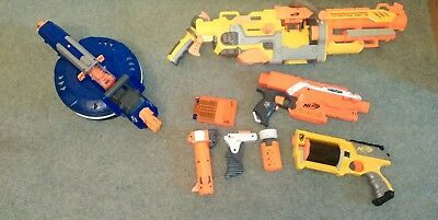 nerf gun bundle hail fire, havoc fire, stryfe, maverick  modulus attachment