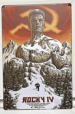 Rocky IV Metal Sign Movie Poster Russia 2018 Creed 2 Ivan Drago Balboa CCCP USSR