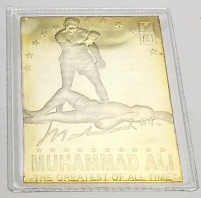 Muhammad Ali Gold Card Boxer Sporting Legend Olympics Knock Out World Champion
