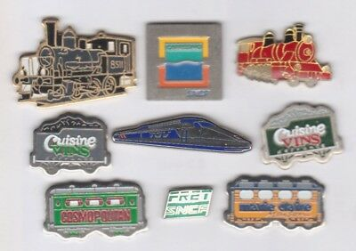 Lot de 9 pin's TGV SNCF locos wagons