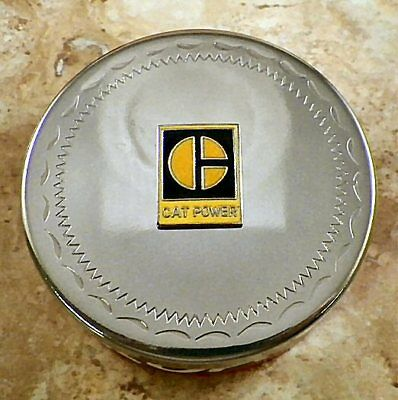 """Cat Power """" Caterpillar """" Snuff Cannister Lid Cover"""