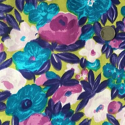 Vintage 1950s Cotton Floral Fabric Mod New Look 3Y+ 35W Impressionist