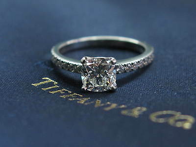 bb2eafb3f Tiffany & Co Platinum Novo Diamond Engagement Ring Size 6 H-VVS2 1.16CT