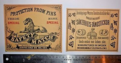 2 Pcs Sweden Matchbox Labels XL