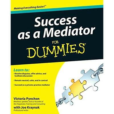 Success as a Mediator For Dummies (For Dummies - Paperback NEW Victoria Pyncho 2