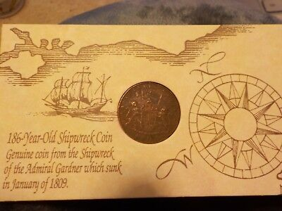 1808 East India Co. X Cash coin Shipwreck of the Admiral Gardner - No Reserve