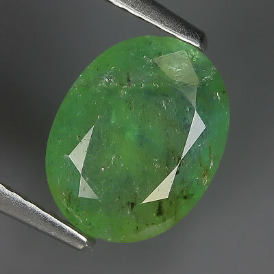 Sporty 1.59 Ct Natural Zambia Green EMERALD Oval Gemstone @ See Video !!