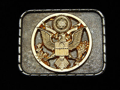 PG05133 VINTAGE 1970s **SEAL OF THE UNITED STATES OF AMERICA** PATRIOTIC BUCKLE