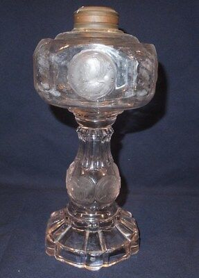1870's Victorian Columbian coin Table oil lamp