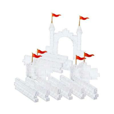 Dept 56 Village Accessories - Ice Crystal Gate & Walls 56716  Set 14 - Wbx Mint