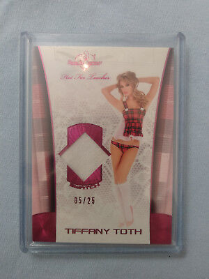 Benchwarmer 2012 Hot for Teacher Swatch Red Tiffany Toth 5/25