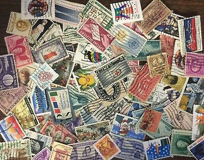 [Lot C] 100 different used United States (US-USA) stamps off paper - GREAT value