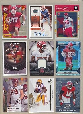 KANSAS CITY CHIEFS Lot (50) AUTO RC JERSEY, PATRICK MAHOMES Rc Tyreek Hill RC ++