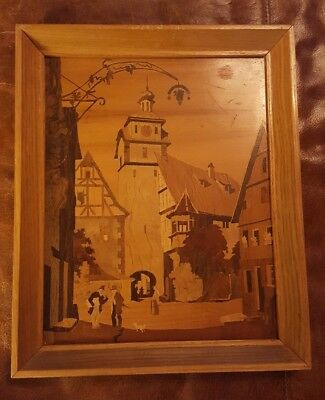 Marquetry Art Inlaid Wood Picture BUCHSCHMID & GRETAUX unsigned?