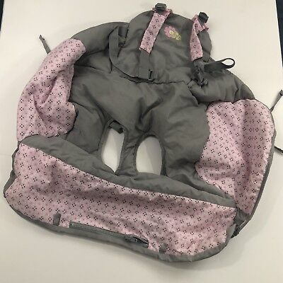Shopping Cart High Chair Baby Cover 2 in 1 with Adjustable shoulder Strap PINK