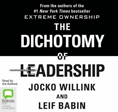 NEW The Dichotomy Of Leadership By Jocko Willink Audio CD Free Shipping