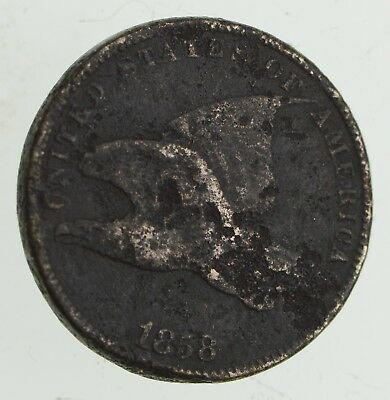1858 Flying Eagle Cent - Very Tough - Issued for only 3 Years *710