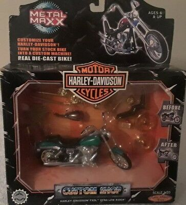 HARLEY-DAVISON Metal Maxx FXDL Dyna Low Rider Real Die Cast Toy Motorcycle 1:20