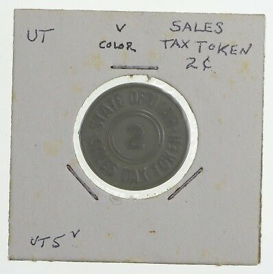Historic - United States Tax Token - State of Utah Sales Tax 2 Cents *797