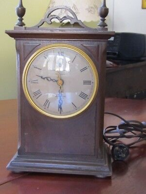 Vintage Telechrom Wooden Mantle Motored General Electric Clock, not working