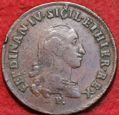 1792 Italy Naples & Sicilly 3 Tornesi Foreign Coin