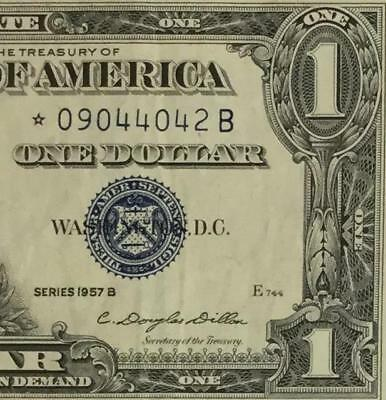 1957B $1 Blue Choice VF SILVER Certificate *** STAR *** X042 Old US Currency!