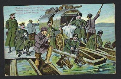 Japan RJW Russo Japanese War Russia Cossacks crossing the Shaho