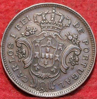 1907 Portugal Azores 10 Reis Foreign Coin