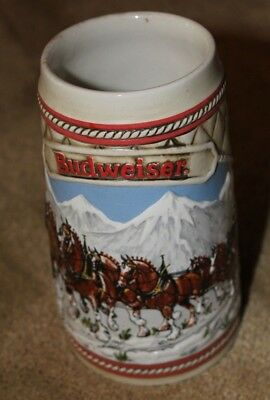 """Budweiser Beer Stein Limited 1985 Edition """"A"""" Series Clydesdales • FREE SHIPPING"""