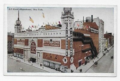 1910 NEW YORK CITY B. F. Keith's Hippodrone Unposted Post Card #1948