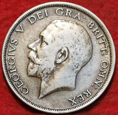 1920 Great Britain 1/2 Crown Silver Foreign Coin