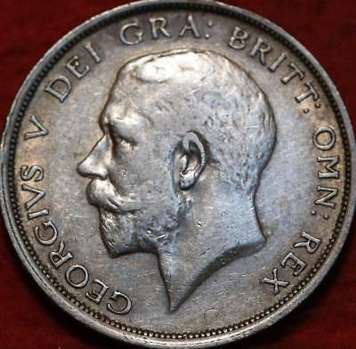 1916 Great Britain 1/2 Crown Silver Foreign Coin